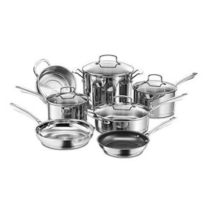 Cuisinart 11-Piece Professional Stainless Cookware Set