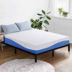 Olee Sleep Aquarius 10-Inch Memory Foam Mattress in Blue, Twin