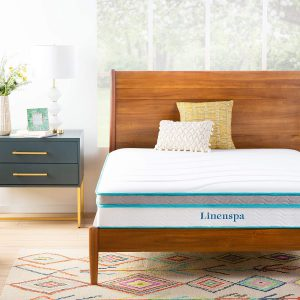 Linenspa 8 Inch Memory Foam and Innerspring Hybrid-Mattress - Medium-Firm Feel - Twin