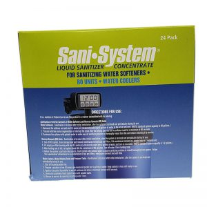 Sani-System Liquid Sanitizer Consentrate For Sanitizing Water Softener, RO Units, And Water Coolers