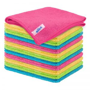 """MR.SIGA Microfiber Cleaning Cloth,Pack of 12,Size:12.6"""" x 12.6"""""""