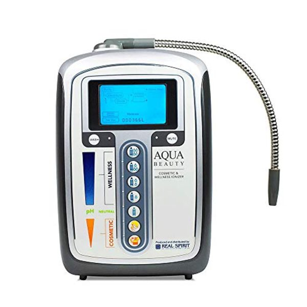 Aqua Ionizer Deluxe | Water Ionizer | 7 Water Settings | Home Alkaline Water Filtration System | Produces pH 5.0-11.0 Alkaline Water | Up to -600mV ORP | 4000 Liters Per Filter