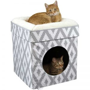 Kitty City Large Cat Bed, Stackable Cat Cube, Washable Bed, Indoor Cat House/Cat Condo