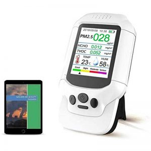Air Quality Monitor, Formaldehyde Detector, Temperature & Humidity Meter, Pollution Tester, Sensor; Detect PM2.5/PM10/PM1.0 Micron Dust, Test Indoor TVOC Volatile Organic Compound Gas; eBook
