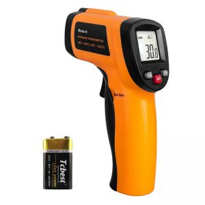 Helect (NOT for Human) Infrared Thermometer, Non-Contact Digital Laser Temperature Gun -58°F to 1022°F (-50°C to 550°C) with LCD Display
