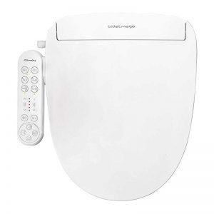 Coway Bidetmega 150 Smart Electronic Bidet Seat with Innovative i-WAVE Technology (For Elongated Toilet Bowl), White, Model Number: Bidetmega 150E