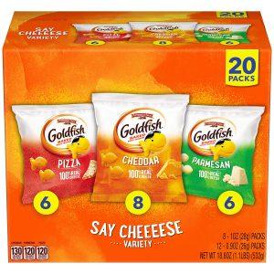 Pepperidge Farm Goldfish Classic Mix Crackers, Variety Pack Box, 30-count Snack Packs