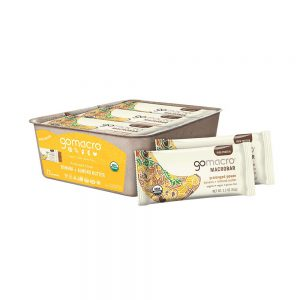 GoMacro MacroBar Organic Vegan Protein Bars - Oatmeal Chocolate Chip (2.3 Ounce Bars, 12 Count)