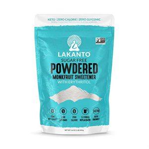 Lakanto Monkfruit Sweetener, 1:1 Powdered Sugar Substitute, Keto, Non-GMO (1 lb)