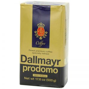 Dallmayr Prodomo Arabica Ground Coffee 17.6oz (6-pack), Set of 4