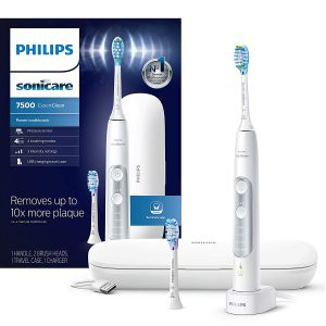 Philips Sonicare ProtectiveClean 6500 Rechargeable Electric Toothbrush with Charging Travel Case and Extra Brush Head, White HX6462/05