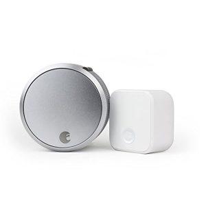 August Smart Lock Pro (3rd Gen) + Connect Hub - Zwave, HomeKit & Alexa Compatible - Silver