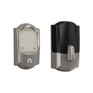 Schlage Lock Company BE489WB CAM 619 Schlage Encode Smart WiFi Deadbolt with Camelot Trim In Satin Nickel, Lock