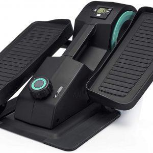 Cubii JR1 Seated Under Desk Elliptical Machine for Home Workout, Mini Elliptical, Desk Bike Pedal Exerciser, Whisper Quiet, Under Desk Pedal Exerciser w/Adjustable Resistance & LCD Display