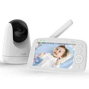 """Baby Monitor, VAVA 720P 5"""" HD Display Video Baby Monitor with Camera and Audio, IPS Screen, 900ft Range, 4500 mAh Battery, Two-Way Audio, One-Click Zoom, Night Vision and Thermal Monitor"""