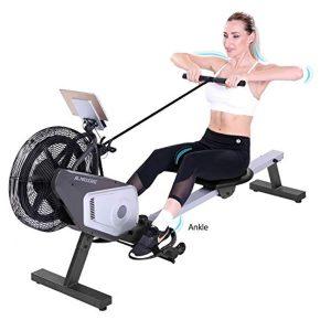 MaxKare Air Rowing Machine Unadjustable Huge Air Resistance Rower for Indoor Senior Intensive Row Training
