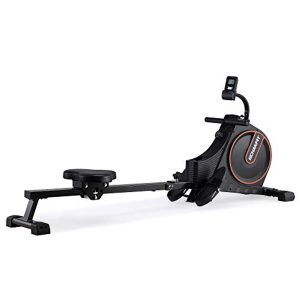 ECHANFIT Magnetic Rower Rowing Machine for Home Use Foldable w/16 Level of Quiet Magnetic Resistance with LCD Monitor and Adjustable Console Angle for Cardio Training (CRW 4901)