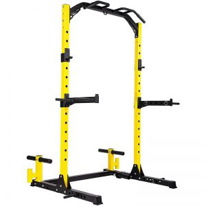 HulkFit Multi-Function Adjustable Power Rack Exercise Squat Stand with J-Hooks and Other Accessories, Multiple Versions
