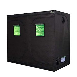 "96""x48""x80""Mylar Hydroponic Grow Tent with Obeservation Window and Floor Tray for Indoor Plant Growing 8x4 Feet (96""x48""x80"")"