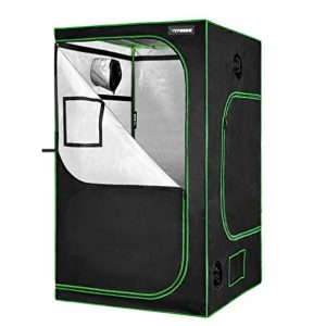 """VIVOSUN Grow Tent 48""""x48""""x80"""" for Indoor Hydroponic Plant Growing with Observation Window and Floor Tray"""