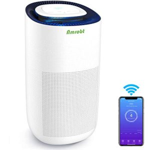 Amrobt Smart Wi-Fi Air Purifier for Home Large Room with True HEPA Filter