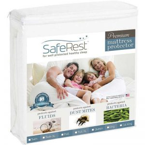 SafeRest Twin Size Premium Hypoallergenic Waterproof Mattress Protector - Vinyl Free