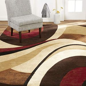 """Home Dynamix Tribeca Slade Modern Area Rug, Abstract Brown/Red 7'10""""x10'6"""""""
