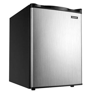 Euhomy Upright freezer, 2.1 Cubic Feet,Compact Single Door mini freezer with Reversible Door,Adjustable Removable Shelves ,Freezer for Basement/Home/Apartment/Office (Silver)