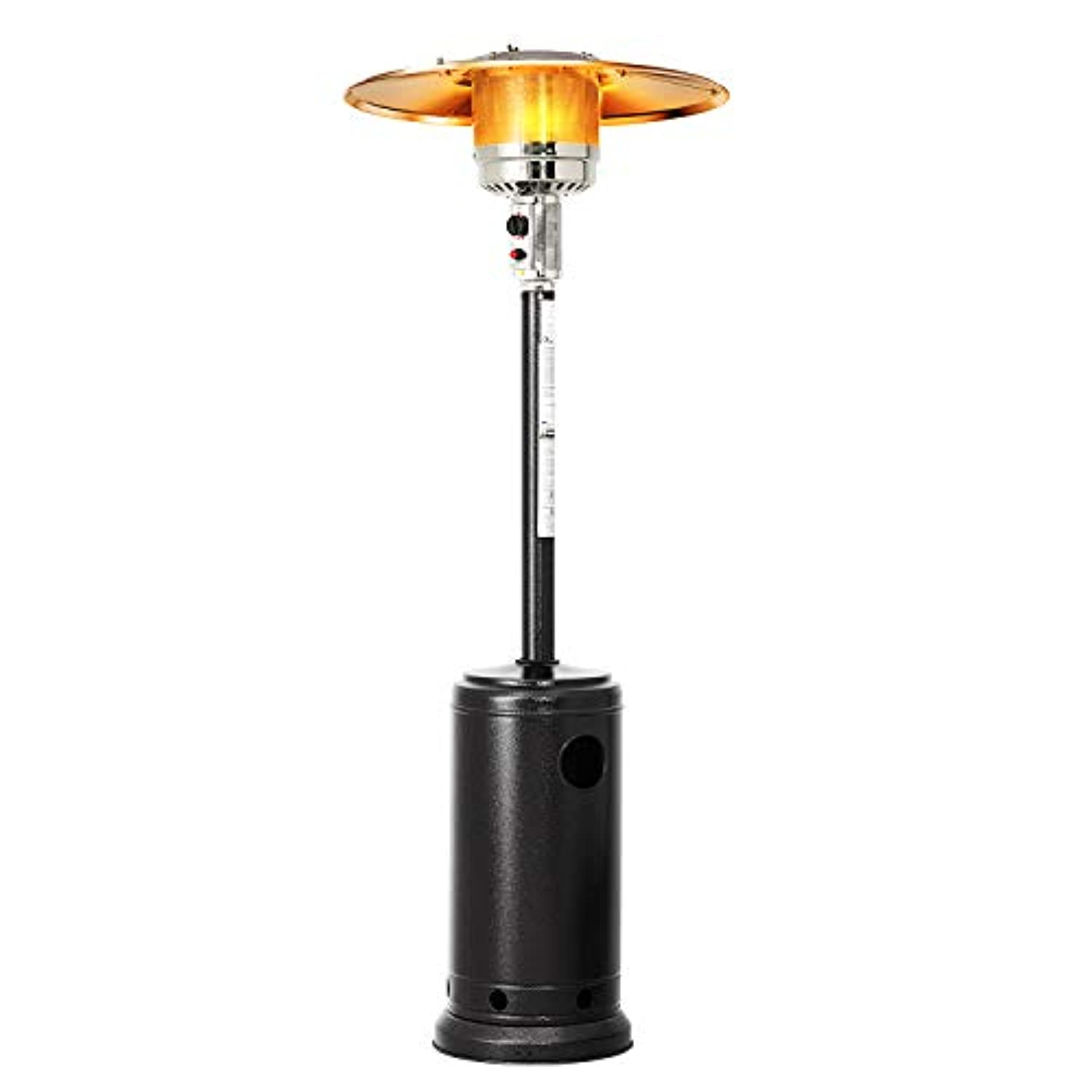 Patiomore Outdoor Propane Heater Patio Tall Standing Heater, 40000 BTU, Matte Black