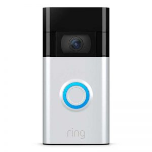 All-new Ring Video Doorbell – newest generation, 2020 release – 1080p HD video, improved motion detection, easy installation – Satin Nickel