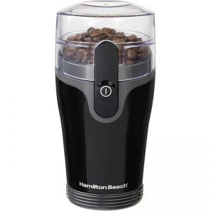 Hamilton Beach Fresh Grind 4.5oz Electric Coffee Grinder for Beans, Spices and More, Stainless Steel Blades, Black