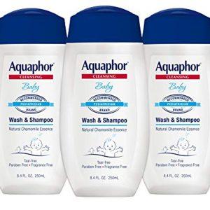 Aquaphor Baby Wash and Shampoo - Mild, Tear-Free 2-in-1 Solution for Baby's Sensitive Skin - 8.4 fl. oz. Bottle (Pack of 3)