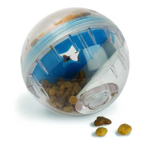 Pet Zone IQ Treat Ball – Adjustable Dog Treat Ball (Slow Feeder, Dog Puzzle Toy, Treat Dispensing Toy and Interactive Dog Toy in One)