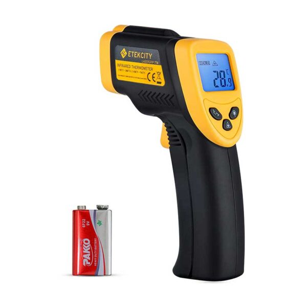 Etekcity Infrared Thermometer 774 (Not for Human) Temperature Gun Non-Contact Digital Laser Thermometer-58℉ to 716℉ (-50 to 380℃), Standard Size, Black
