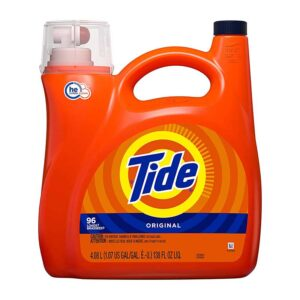 Tide Tide HE Turbo Clean Liquid Laundry Detergent, Original, 96 Loads