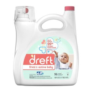 Dreft Dreft Stage 2-Active Baby Liquid Laundry Detergent, 96 Loads, 150 Fl Oz