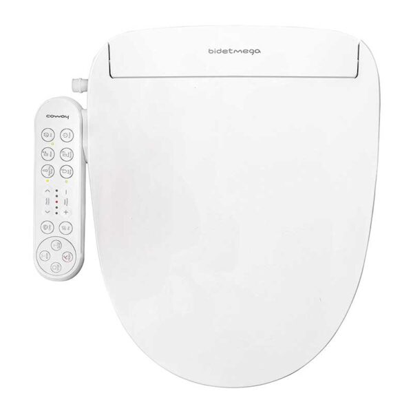 Coway Bidetmega 150 Smart Electronic Bidet Seat with Innovative i-WAVE Technology-For Elongated Toilet Bowl- White-Model Number-Bidetmega 150E