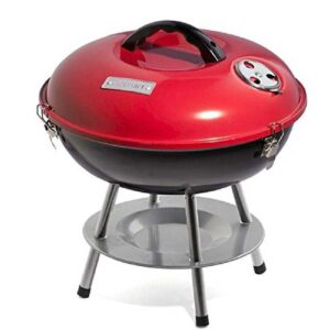 Cuisinart CCG190RB Portable Charcoal Grill, 14-Inch, Red, 14.5-14.5-15