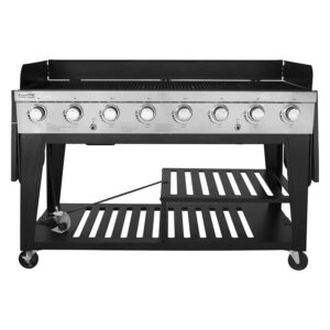 Royal Gourmet GB8000 8-Burner Liquid Propane Event Gas Grill, BBQ, Picnic, or Camping Outdoor, Black