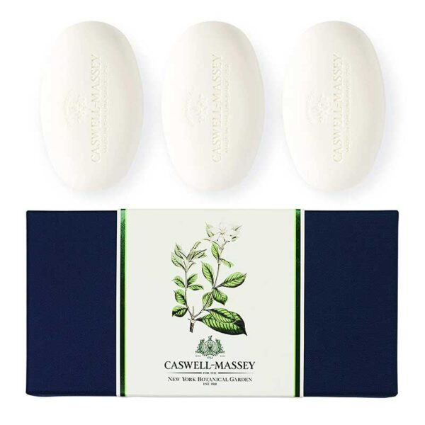 Caswell-Massey Gardenia Scented Women's Bar Soap - Set of Three Soap Bars, 3.25 oz each Triple Milled Luxury Bath Soap - NYBG Collection - Made In USA