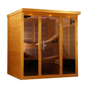 Golden Designs-Monaco- 6-person Near Zero EMF Far Infrared Sauna Canadian Hemlo