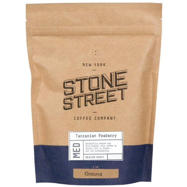 Stone Street Coffee Tanzania Peaberry Fresh Roasted Coffee Whole Bean Coffee, 1 Pound
