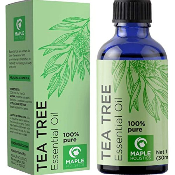 100% Tea Tree Oil Pure - Tea Tree Essential Oil for Skin Dry Scalp and Cuticle Oil for Nail Cleaner - 100% Pure Tea Tree Oil for Hair Skin and Nails Plus Cleansing Oil for Face - Packaging May Vary
