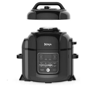 Ninja Foodi 9-in-1 Pressure, Broil, Dehydrate, Slow Cooker, Air Fryer, and More, with 8 Quart Capacity and 45 Recipe Book Inspiration Guide, and a High Gloss Finish
