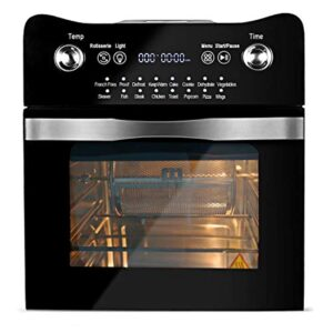 14.7-Quarts Air Fryer Toaster Oven, BOWUTTD 16-in-1 1800-Watt Toaster Oven Cooker, All in One Countertop Oven for Air Frying, Roasting, Defrosting & Dehydrating, Accessories and Recipes Included