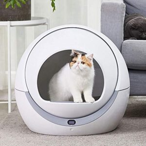 ASDJFHKJS Automatic cat Toilet Automatic cat Sandbox Induction Rotary Cleaning cat Robot Litter Large Kitty self Cleaning Litter Box